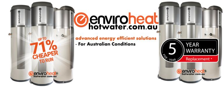 Energy efficient water heating by Enviroheat