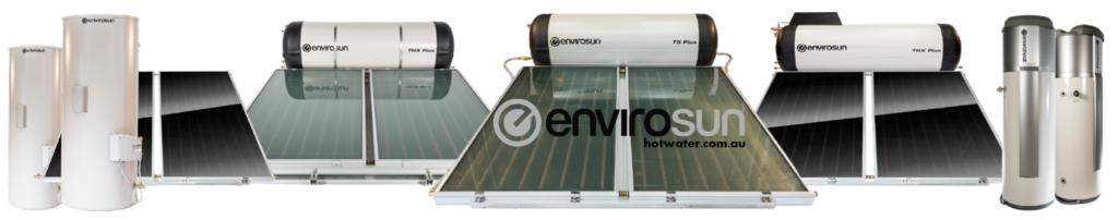 Envirosun and Enviroheat hot water systems